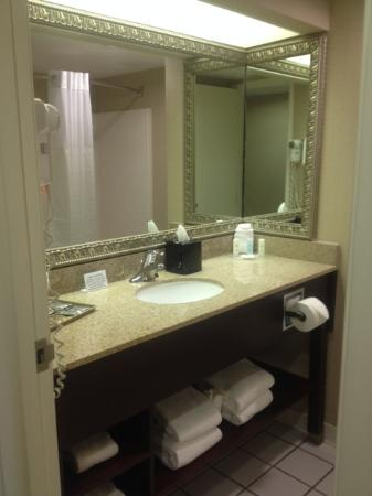 Comfort Suites Airport: Huge clean bathroom