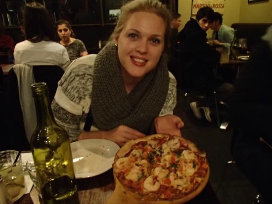 Mammas: pizza aux crevette
