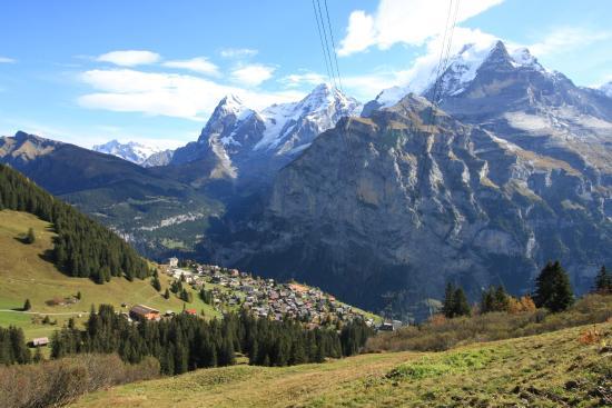 North face Trail: Uitzicht vanaf Schiltgrat op Eiger, Mönch en Jungfrau
