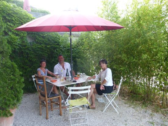 Domaine de Conillieres: sur la terrasse