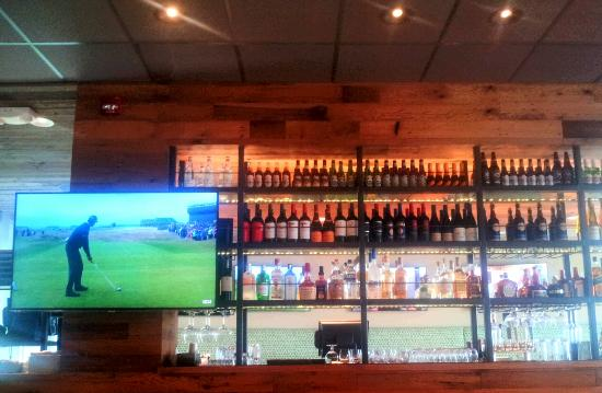 wine and liquor shelves - Picture of California Pizza Kitchen, Fort ...