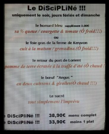 Guidel-Plage, Francúzsko: menu