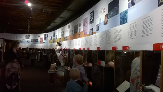 Museum of Wellington City & Sea : informative and educational wall panel exhibits