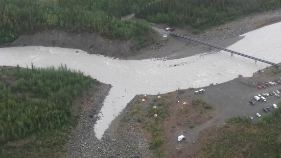 McCarthy, AK: Glacier view from plane