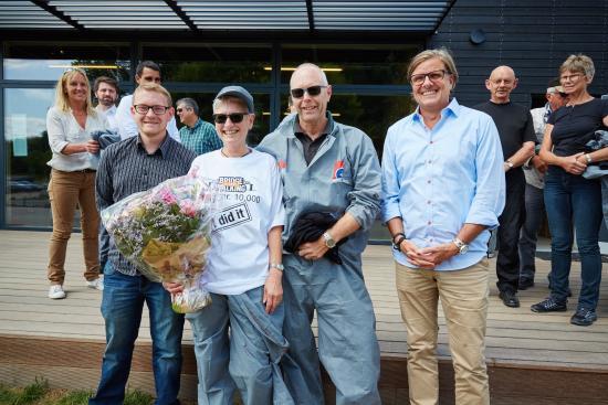 Bridgewalking Lillebælt: Bridgewalking guest no. 10.000 crossed the bridge on 14 July 2015