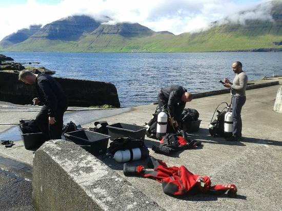 Klaksvik, Islas Feroe: Getting prepped