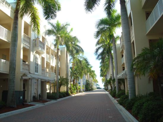 The Palm Bay Club: The walkway to the beach