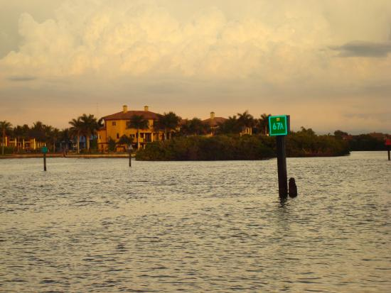 The Palm Bay Club: View from the dock, bay side