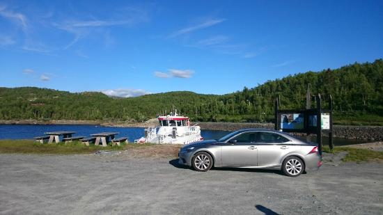 Tinn Municipality, Norway: Parking near by the boat is no problem