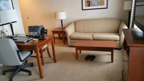 Hampton Inn & Suites Richmond/Virginia Center: living area
