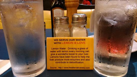 Heaven & Eggs Glorietta: They have lemon water as their service water.