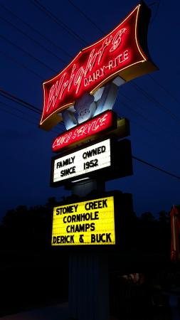 Wright's Dairy Rite: Not Sure if the marquee was a joke, but Derek and Buck gave us a giggle.