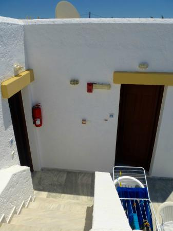 Seagull Apartments: our two apartment doors