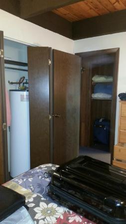 Hillu0027s Resort: Water Heater In Bedroom Closet