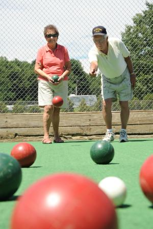 Lake George RV Park: Bocce courts bring the family together.