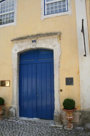 The blue front door