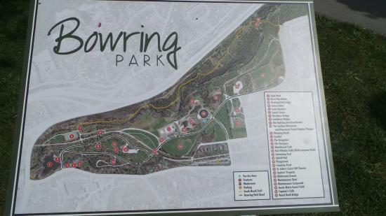 Bowring Park: Map of the park