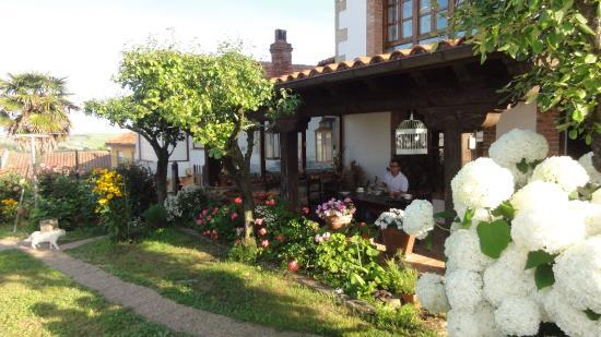 Posada Rural Mari Paz: Outdoor terrace and garden