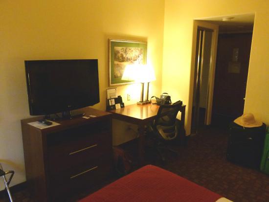 Best Western Lanai Garden Inn & Suites: TV, dresser & desk