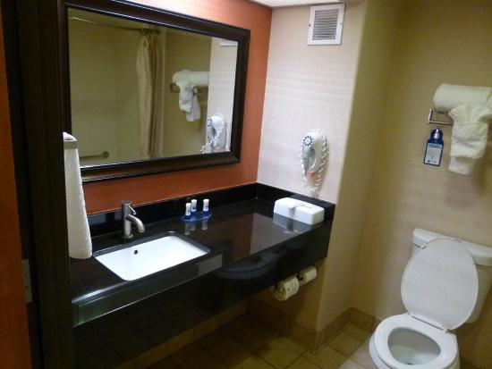 BEST WESTERN Lanai Garden Inn & Suites: Nice bathroom with good counter space.