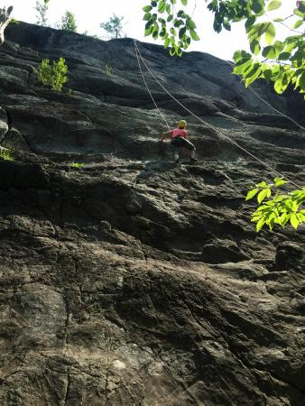 Rock and River Lodge: First climb ever