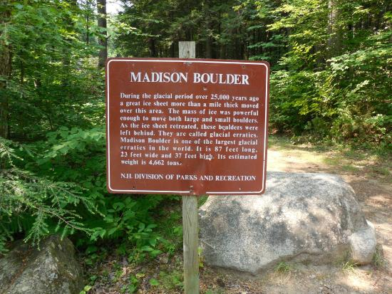 Madison, NH: Information sign