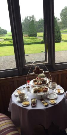 The Oak Room at Adare Manor: Afternoon tea and our view