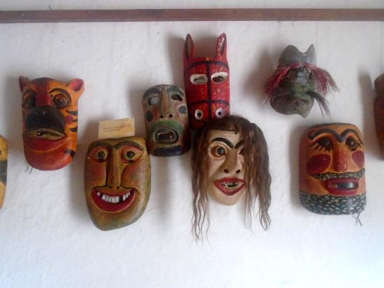 Casa Galeano: Replicas of masks worn by the indigenous people