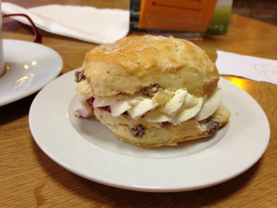 World Peace Cafe: Cream and jam scone