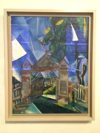 """Musée d'Art et d'Histoire du Judaïsme : Marc Chagall """"The Cemetery Gates"""""""