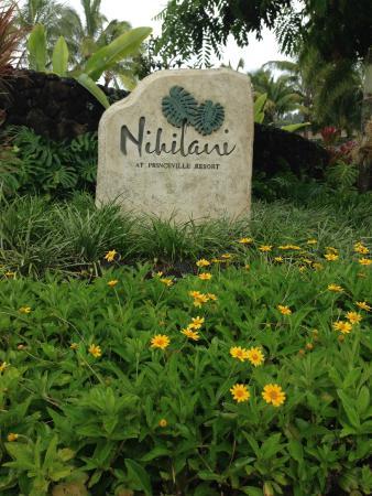 Nihilani at Princeville: Sign for development