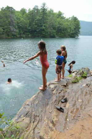 Santeetlah Lake: safe for good swimmers of all ages