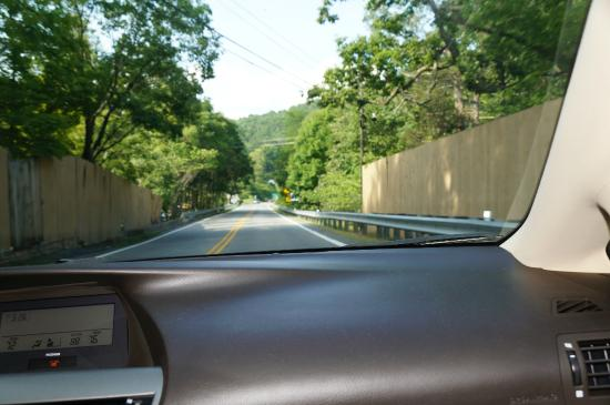 The Natural Bridge of Virginia: here's the highway, fencing keeps you from realizing you're ON the Natural Bridge