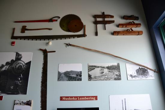 Muskoka Steamships and Discovery Centre: Logging tools