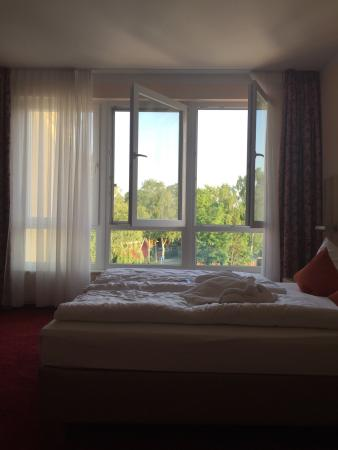 Seehotel am Suedhorn: Номер категории комфорт, очень приличный. От гостиницы до пляжа идти 5-7 минут. Очень тихое мест