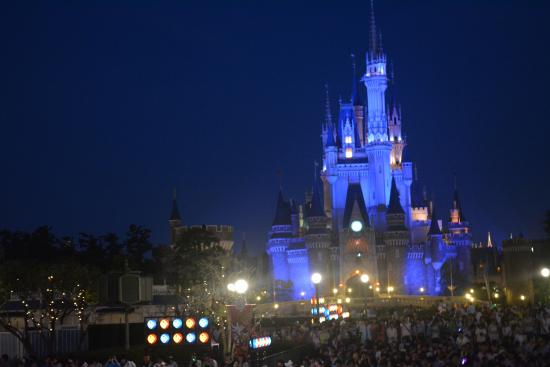 Cinderella S Castle At Night Picture Of Tokyo Disneyland Maihama