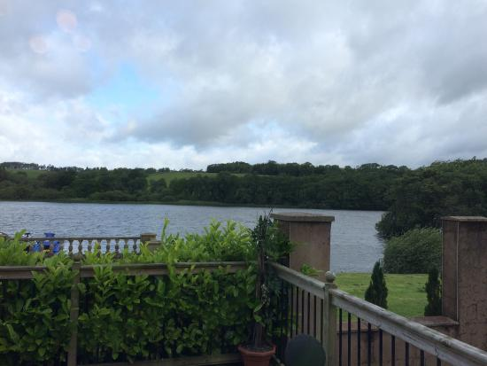 Crocketford, UK: View from our bed. Beautiful!