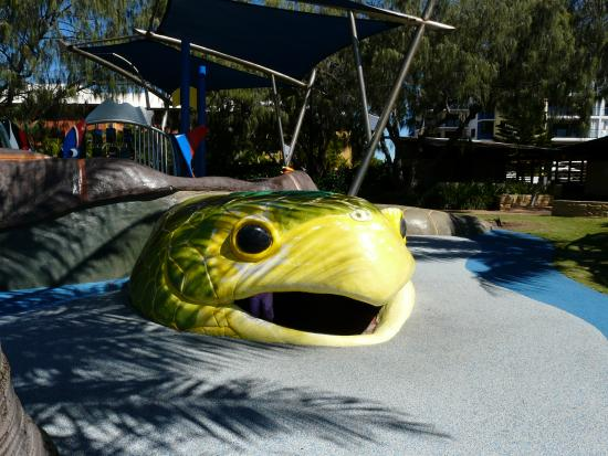 The kids just love the Turtle Park at Bargara!!