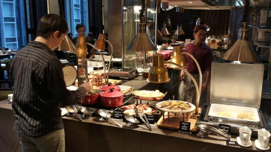 Breakfast Buffet The French Cast Iron Ware Is A Clue To