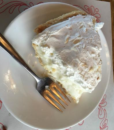 Homemade Coconut Cream Pie - Rolly's Restaurant, Ramore ON