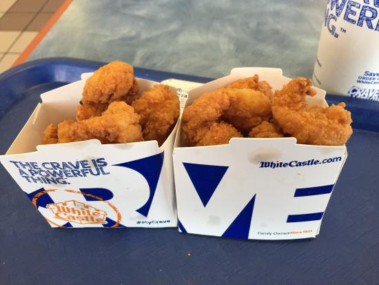White Castle: Shrimp nibblers, two small orders.