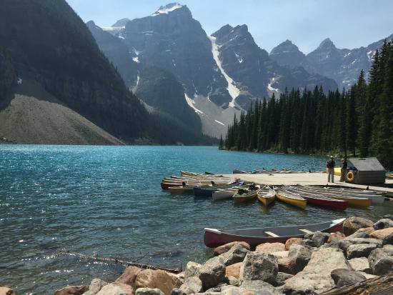 Loved Canoeing On The Lake Picture Of Moraine Lake Lodge