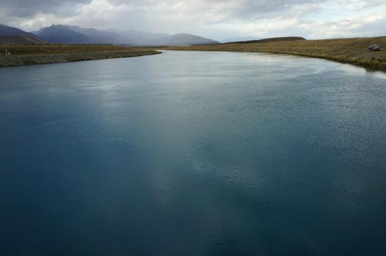 Twizel, New Zealand: The hydroelectric station.