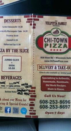 Chi-Town Pizza : menu