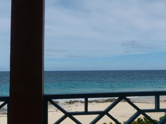 Grape Bay Cottages: View from the Beach Home porch