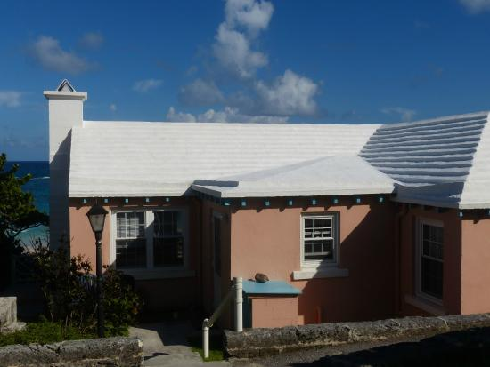 Grape Bay Cottages: Back of Beach Home - as you approach from the road