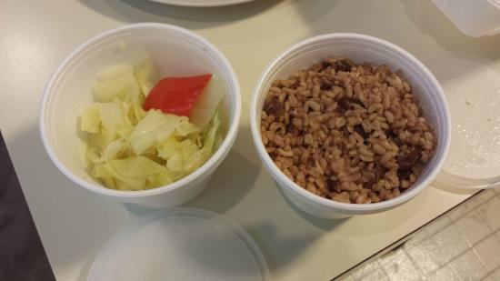 Brookfield, CT: Steamed Cabbage and Rice and Peas