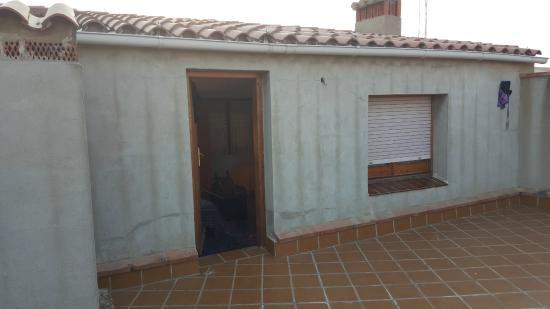 Hostal Sanmar: Terrasse