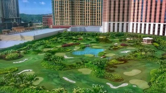 View of the mini golf course from our suite picture of the the venetian macao resort hotel view of the mini golf course from our suite altavistaventures Images