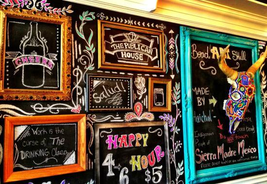 Kawartha Coffee Company: Chalk wall